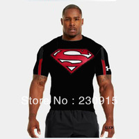 New arrive Superman T shirt 2013 new fashion men's powerful telescopic T-shirt popular T-shirt men's short sleeve Free Shipping