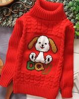 winter turtleneck children sweater girls boys