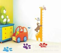 Giraffe Height Chart Wall Stickers Kids Nursery Kid's Boy's Room Decoration Vinyl Decals Home Children Bedroom Decor Removable