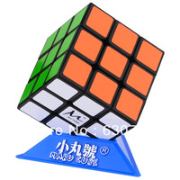 XWH CX3 Maru 3x3x3 Magic Speed Cube with Springs and Base Black +Free Shipping