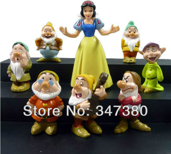 Free shipping by EMS NEW 8pcs Princess Snow White and the Seven Dwarfs Figure 30SET/LOT(China (Mainland))