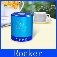 Free Shipping+T-2020 Portable Mini Speaker with TF Card Reader & FM (Blue)