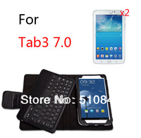 New Folio Stand Leather Case With Wireless Bluetooth Keyboard Cover +2x Films For Samsung Galaxy Tab3 3 7.0 T210 T211 P3200 7""