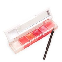 Free Shipping!   2013 French brand lipsticks,6 color environmental protection Large capacity 10g lip stick+ brush makeup palette
