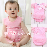 Real Free Shipping Baby Girl Kids One-piece Bodysuit Princess T-shirt Romper Jumpsuit Lovely wholesale