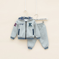 RETAIL autumn baby Boy's 2piece suit set sport suit sets cotton tracksuits Baby Clothing Sets hoody jackets +trousers freeship