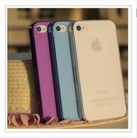 MOQ:1PC 0.5mm Ultra Thin Slim Matte frosting Transparent Cover Case For iphone4 iphone 4 4s 4g free shipping