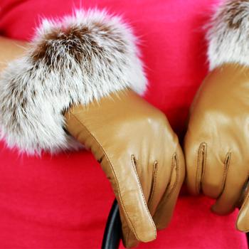 2013 suede gloves rex rabbit hair gloves women's plus velvet thickening thermal gloves