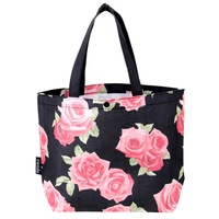 Bag big rose portable shopping bag eco-friendly bag snap button women's handbag