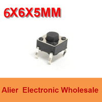DIP 6*6*5 6X6X5 MM Tactile Tact Push Button Micro Switch Momentary  Four Pin For Induction Cooker  FREE SHIPPING SW001