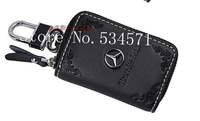 Free shipping! Benz MB leather car key holder car key bag car key chain Strongly Recommend! high quality top grade