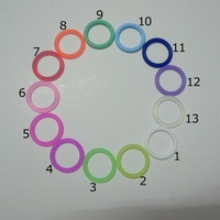 120pcs Silicone Pacifier Dummy Ring MAM Adapter Food Grade Silicone Inner Diameter 21mm