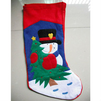 Free Shipping Christmas Stocking With printing Snowman