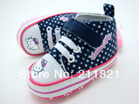 SanFu--HO005 2013 NWT baby boy shoes Canvas blue  cat lovely sneakers first walkers toddler home shoes 2 3 4  size