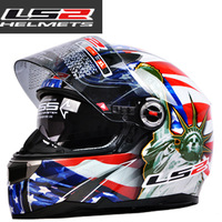 9 Styles LS2 FF396 Double Lens Glare Reducer Fiberglass Off-Road Motorcycle Racing Helmet Motorcross  Full Face Helmets