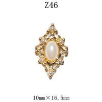 100pcs/design  Fashion 3D Alloy  yellow Crystal  Nail art Decoration of 3D alloy 3D nail art studs Z46