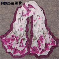 hot women winter scarf fashion style silk scarf polka velvet scarf chiffon Bohemia Scarf free shipping (SC044)