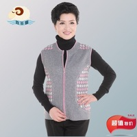 Quinquagenarian female vest waistcoat outerwear sweater knitted vest wool cashmere cardigan plus size slim