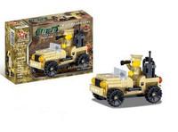 Star diamond assembling building blocks marine series 80033 command car racer DIY toys for boys gift