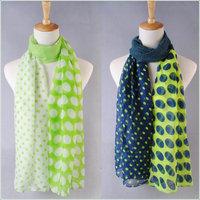 hot women winter scarf fashion style silk scarf polka velvet scarf chiffon Bohemia Scarf free shipping (SC058)
