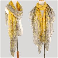 hot women winter scarf fashion style silk scarf polka velvet scarf chiffon Bohemia Scarf free shipping (SC067)