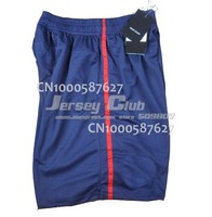 2014 Top thailand quality PSG soccer shorts,Free shipping PSG soccer shorts home blue embroidery LOGO