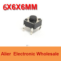 DIP 6*6*6 6X6X6 MM Tactile Tact Push Button Micro Switch Momentary  Four Pin For Electronic Device FREE SHIPPING SW010