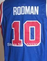 Free Shipping,#10 Dennis Rodman Basketball jersey,Size 44-56