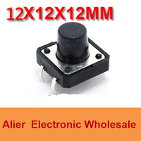 DIP 12*12*12 12X12X12 MM Tactile Tact Push Button Micro Switch Momentary  Four Pin For Electronic Device FREE SHIPPING SW016