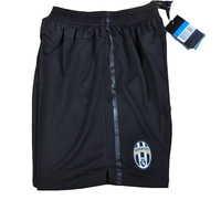 2014 Top thailand quality Juventus soccer shorts,Free shipping Juventus soccer shorts home black embroidery LOGO