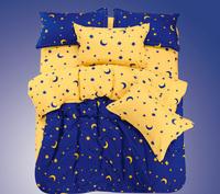 Home textile bedding cotton 100% cotton four piece set piece set bed sheets fitted duvet cover