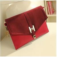 new 2013 envelope bag vintage briefcase buckle day clutch evening bag cross-body women's handbag small bags