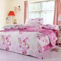 100% cotton four piece set slanting stripe activated 100% print cotton four piece set bed sheets fitted style