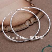 JE044 Free shipping lowest price wholesale 925 solid Silver earring Fashion women charm Jewelry earring, Polished Earrings