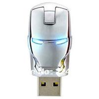 High Qualtiy 32G 64G White Metal Man Model Memory Usb Flash Stick Thumb Pen Drive With Retail Packaging Flash Memory Pen Drive