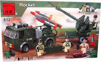 Enlighten Assembling building blocks military series 812 bazookas armycar kids DIY bricks toys for boys gift