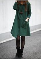 8359 plus size clothing irregular loose long-sleeve dress slim outerwear