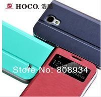 Original HOCO Star Seies Virew Genuine Leather Flip  Case cover for Samsung Galaxy S4 i9500 free shipping