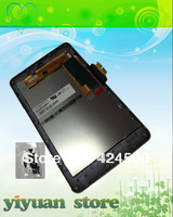 OEM For Asus Google Galaxy Nexus 7 Tablet Glass LCD Display Touch Screen Digitizer Frame Assembly Parts Silver
