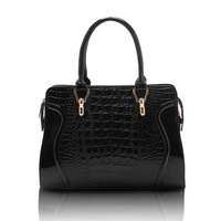 HOT Crocodile Grain High-Quality Ladies' Fashion Genuine Leather Bag Cowhide Women's Tassel Bag Shoulder Bag Vintage Handbag