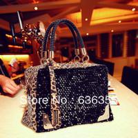 Women's handbag 2013 all-match fashion autumn and winter small bag black messenger bag women's portable Free shipping