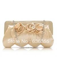 2013 package saleswomen rose pale gold quality small handbag women's cosmetic handbag bag Free shipping