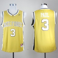NCAA football jersey Wake Forest Demon Deacons Chris Paul 3 gold jerseys Embroidery logo stitched MEN48-56 cheap price online