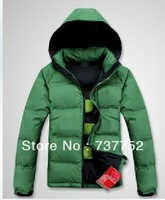 2013 New Men's warm outdoor waterproof windproof winter down jacket parka coat hoodies outerwear overcoat thick clothing
