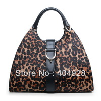 277514  leopard 2013  new  fashion women design genuine leather shoulder handbag top quality wholesale