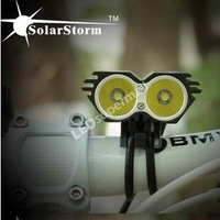 SolarStorm X2 Bike Light 2 CREE U2 2000LM LED Bicycle Light head-Black(Head Lamp Only)