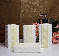Fashion brief ceramics guanchong 4 bath room supplies kit wash set shukoubei sanitary ware