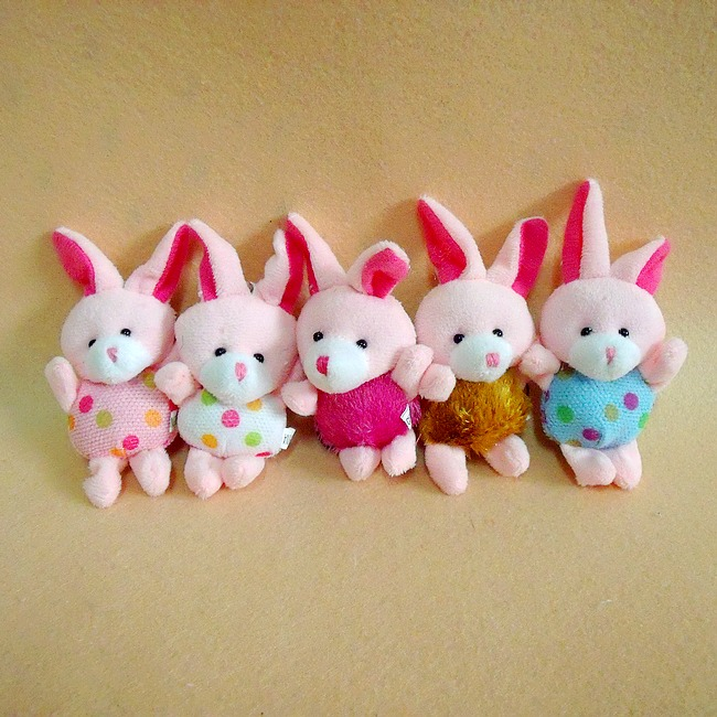 Min.order is $15 (mix order) Cute Little Bunny Pendant Plush Stuffed Toys Dolls Cartoon doll Small Gifts Plush Animal(China (Mainland))