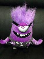 "NEW Arrival Despicable ME 2 Minions Purple Evil Plush  Doll Toy 7"" 4 pcs/lot Free shipping"