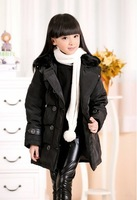 Kids down jacket and long sections girls big boy child down jacket brand down jacket girls